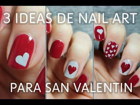 3 ideas para decorar tus uñas de San Valentín en menos de 5 minutos | FÁCIL - YouTube