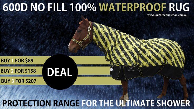 100% Waterproof No Fill Horse Rug BUY 1X$89 2X$158 3X207