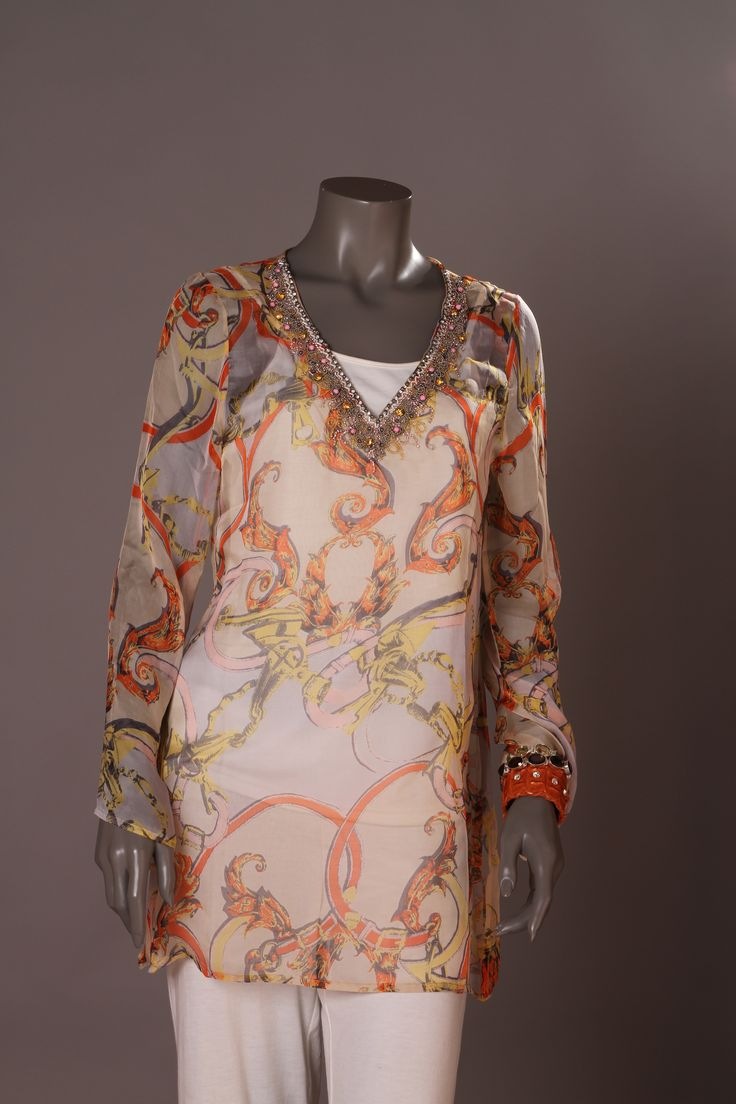 Tunic Silk Beach Boomerang