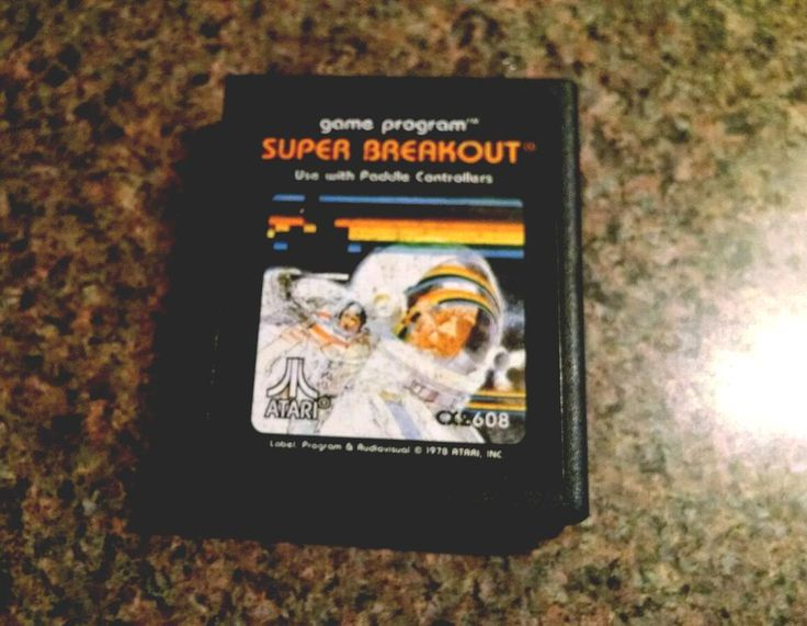 super breakout #atari 2600 video game vintage 80s cartridge  from $4.0