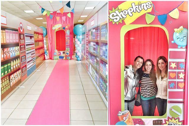 Pera Chapita --- Shopkins birthday party theme, shopkins vending machine, shopkins party decorations, shopkins photo booth. #shopkins