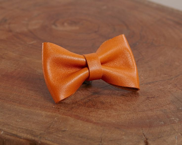 Orange glossy - Luxury leather bow accessory for dog leash | Signe Louka