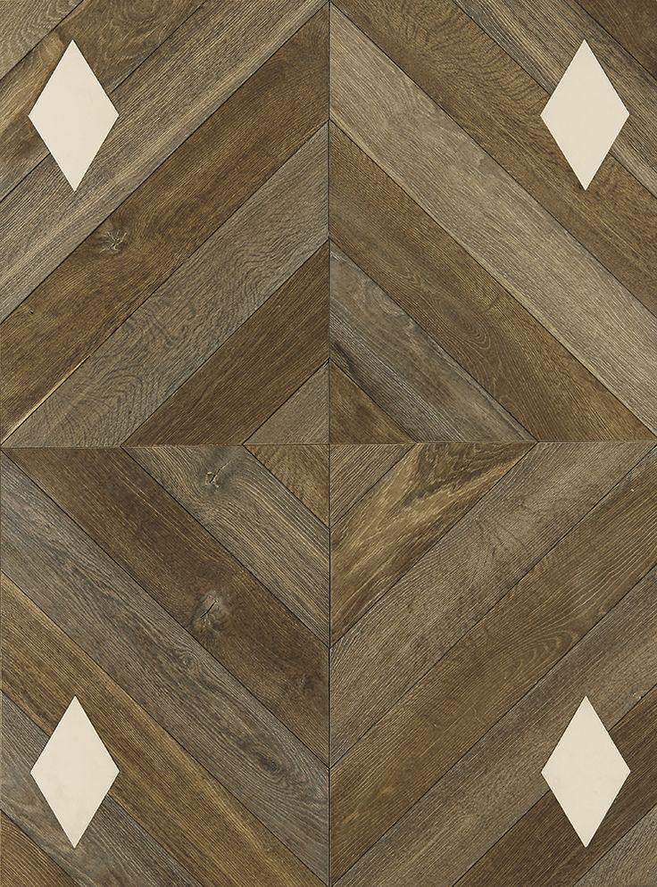 Illusion : Chêne Mars 1 et Luna, Carreaux de ciment #parquet #art #interiordesign #interiorarchitecture #wood #woodfloor #paris #carresol #carreauxdeciment