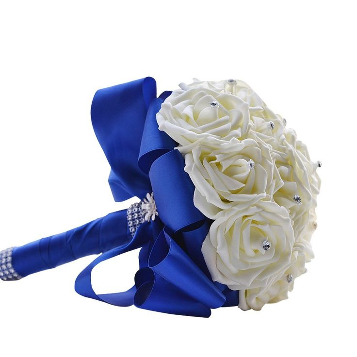 Clearbridal Artificial Flowers Blue Rose Wedding Bouquets With Crystals WF001BU *** Want to know more, click on the image.