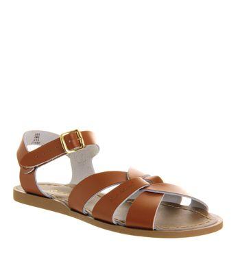 Salt Water, Original Sandals, Tan Leather
