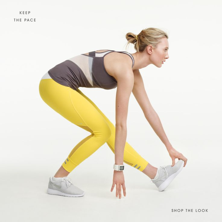 WHITE BY LOLË™ I Run collection Course Like the Yellow leggings!