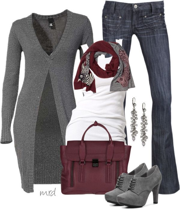 """Long Cardigan"" by michelled2711 ❤ liked on Polyvore"