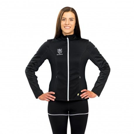 Hedera Helix Multifunctional Woman Jacket - Protection against harmful Electromagnetic Waves & Mobile ------- #OnyxPro ------- with EM Pro Shield function. Fashionable and multifunctional softshell jacket to protect body from harmful high frequency #electromagnetic #waves. Ensures stable body temperature due to multi-zone temperature design and protects from the wind and the rain. ------- #Shielding #strength: 60.5 dB at 1 GHz (20% pure #silver content, no nano silver used) ------- 487 €