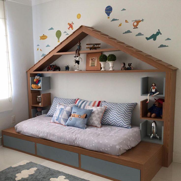 """367 curtidas, 4 comentários - Decor For Kids (@decorforkids) no Instagram: """"Projeto @kamel_arquitetura para dois irmãos. No próximo post vou mostrar o outro lado do quarto."""""""