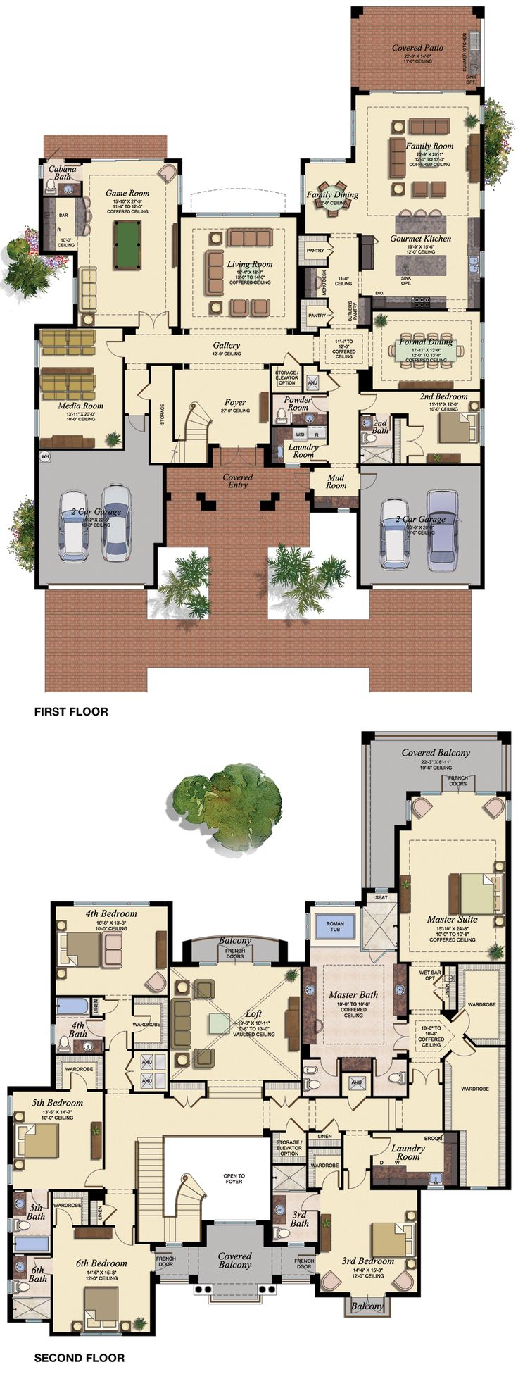 2 storey floor plan bed 2 as study garage as gym