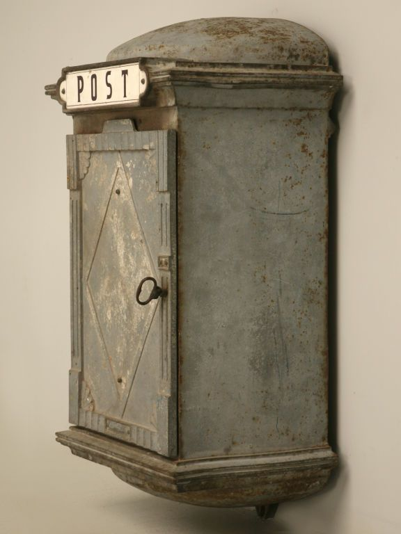c.1930 French Iron Telephone/Post Box For Sale at 1stdibs
