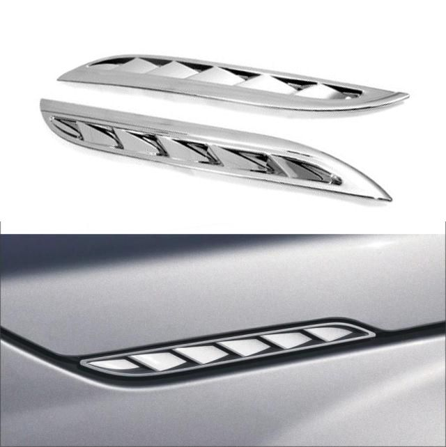 For Suzuki Grand Vitara 2005-2012 ABS Chrome Side Hood Air Intake Side Vent Louver Trim Cover 2006 2007 2008 2009 2010 2011