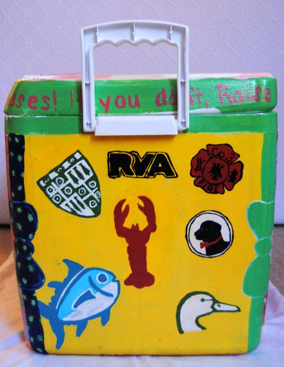 Hand Painted Coolers. $120.00, via Etsy.