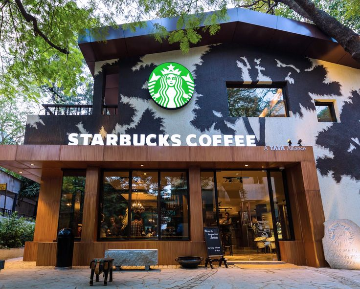"""""""Shadows of the Gulmohar Trees"""" Starbucks Store located in Pune, India"""