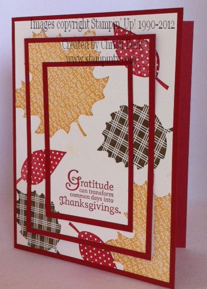 Triple Layer Stamping - Fall Card by beckcjb - Cards and Paper Crafts at Splitcoaststampers