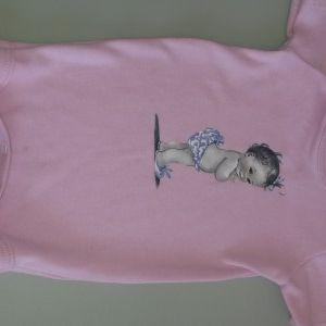 Pink Short Sleeve Purple Doll 0-3