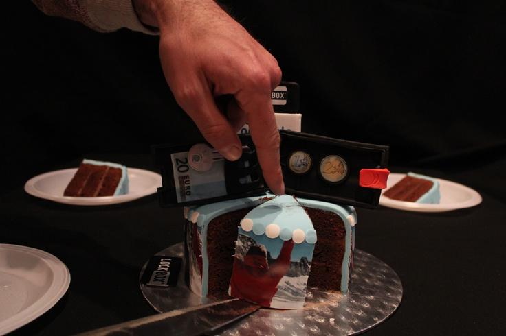 Big cake portions for big guys ;)