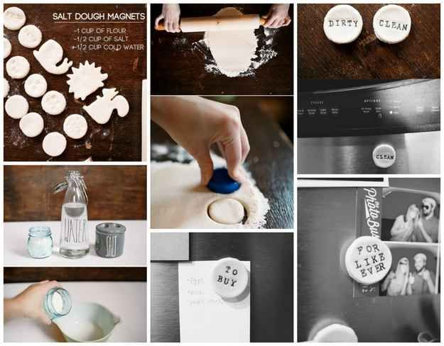 Salt Dough Magnets | 50 Clever DIY Ways To Organize Your Entire Life
