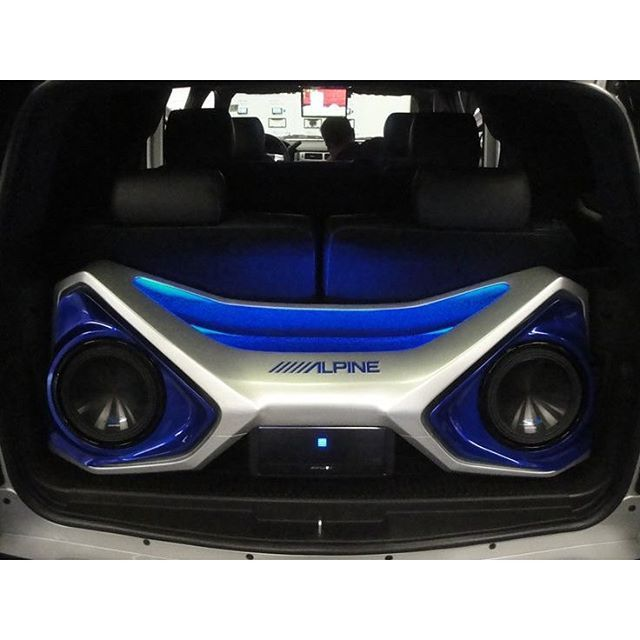 17 best ideas about car audio installation car car audio custom install trunk amp rack unique enclosure eyes angry fiberglass