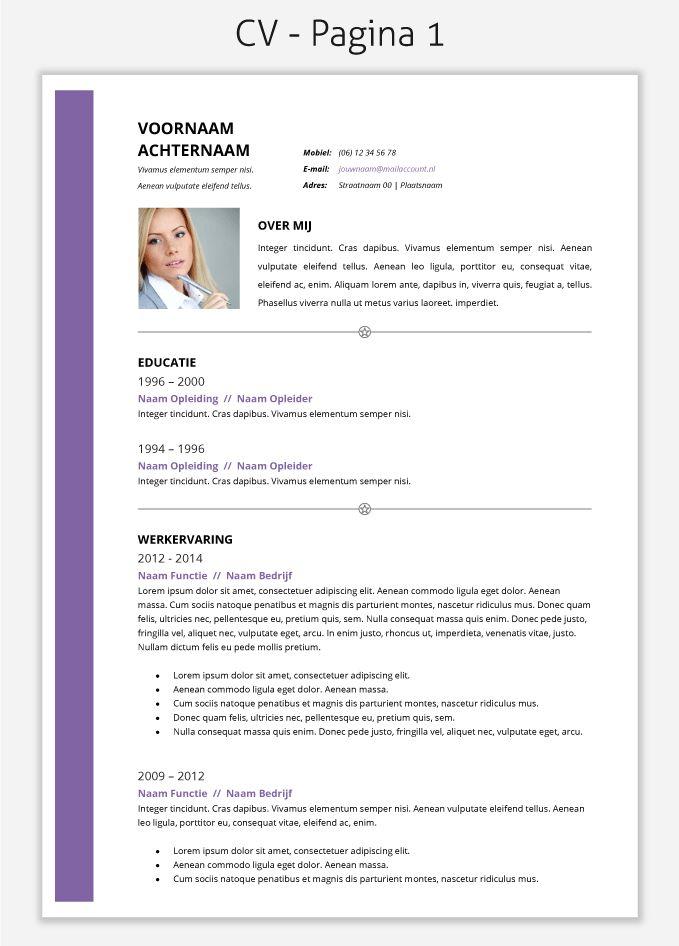 CV template 2015 om te downloaden