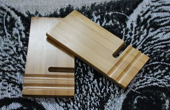 Wooden Phone Stand Desktop Phone Holder Phone by kennethwooddesign