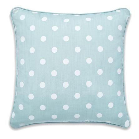 Duck Egg Polka Dot Cushion | Dunelm