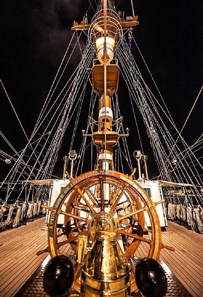Great picture of being on the deck of a Tall Ship, awesome.