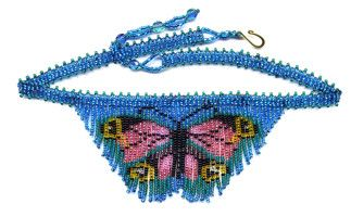 Beaded Dainty Butterfly Fringe Necklace Pattern & Kit. (Click on the picture to see this item on our website). $16.95