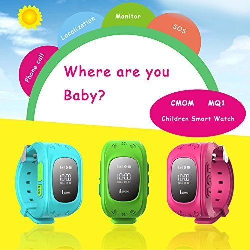 Children smart watch with GPS tracker / kids GPS watch --- MQ1. Support phone call, with SIM card slot; Support precise localization: based on GPS + Local Base Station technology, achieving all day real-time location tracking. 1. Support 2G GSM/GPRS 850/900/1800/1900MHZ 2. Support dial-up call by Key 1, Key 2 and SOS key 3. Support precise location, electronic fence, remote monitor, SOS, GPS tracking, anti lost, Pedometer, alarm clock, stopwatch, etc. 4. GPS Sensitivity: -159dBm, GPS...