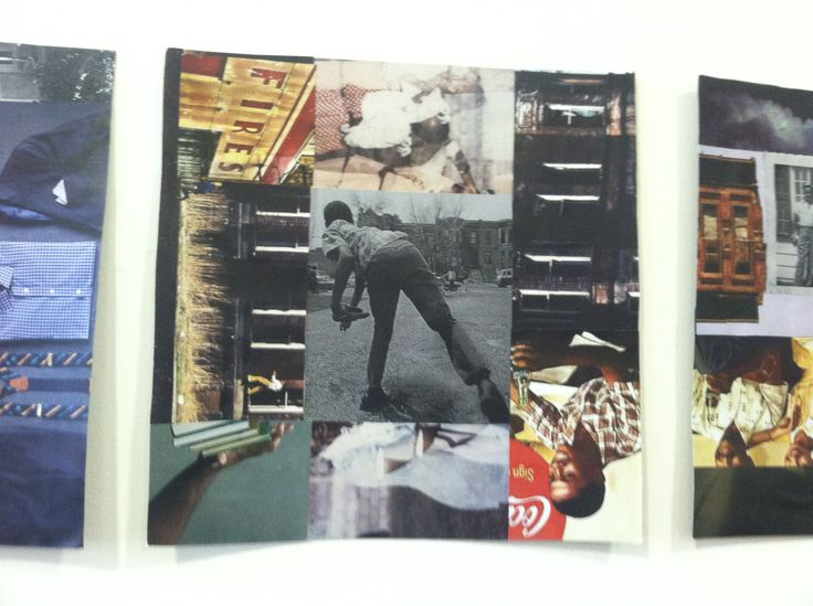 Character collages for A Raisin in the Sun, from Costume Designer Katherine Nowacki. Can you tell which Raisin character this collage represents?Collage Representing, Character Collage