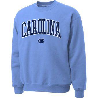 North Carolina Tar Heels (UNC) Carolina Blue Twill Arch Crewneck Sweatshirt