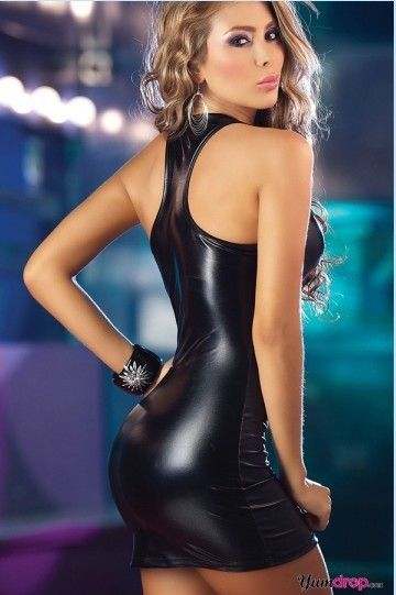 Slim Leather Dresses Club Nightclub Ds Performance