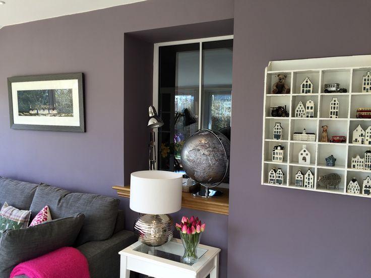 Sunroom wall in Farrow and Ball Brassica Estate Emulsion