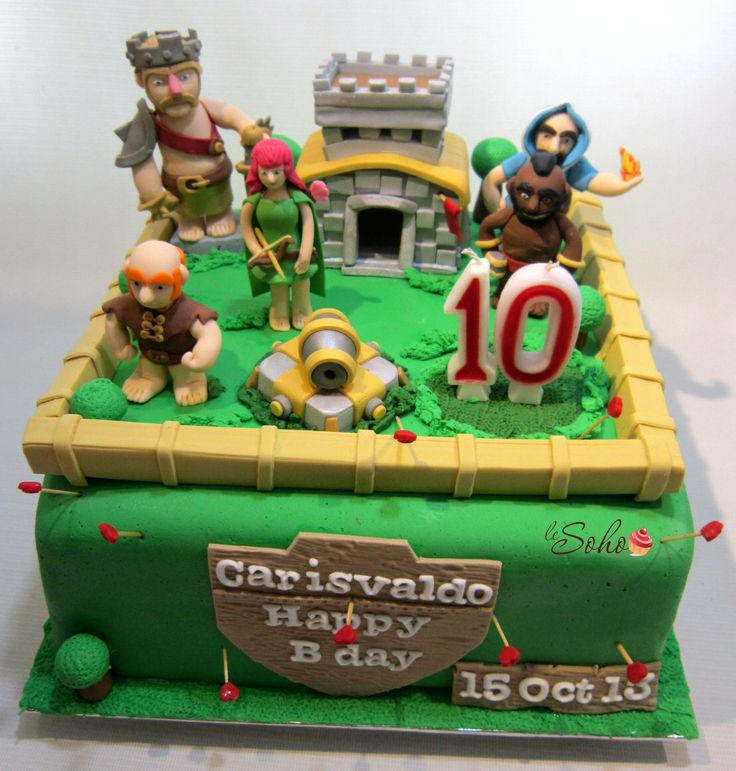 Cake Design Coc : 23 best images about CLash of Clans Cakes on Pinterest ...