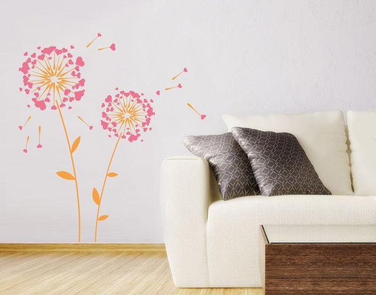 Simple Bl ten geh ren jetzt an die Wand Wandtattoo Blumen