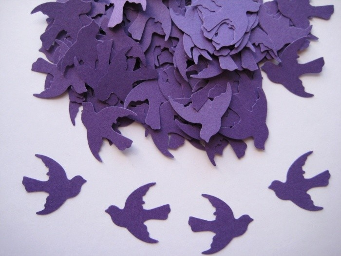 Purple Dove Birds.