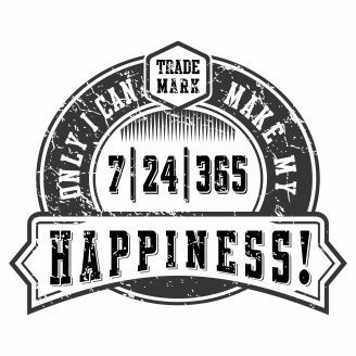 Vector graphic Only I can make my happiness for t-shirt designs