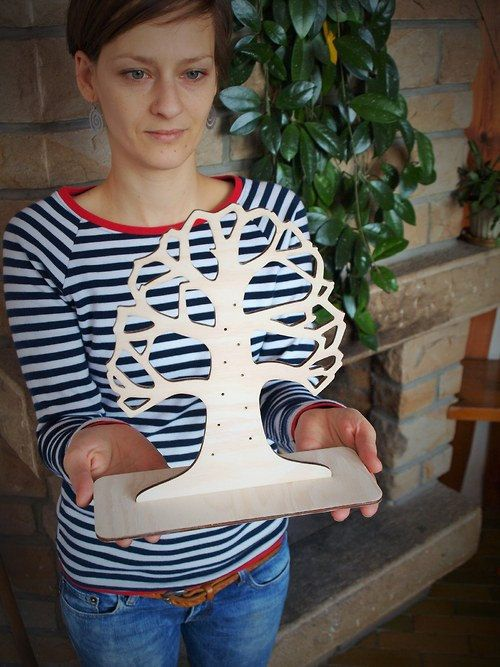 Check out this item in my Etsy shop https://www.etsy.com/listing/227397417/white-jewelry-tree-jewelry-stand-natural