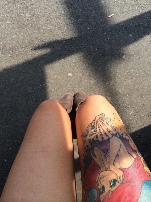 So cute!! Little Mermaid thigh tattoo, Ariel tattoo, thigh tattoo:D