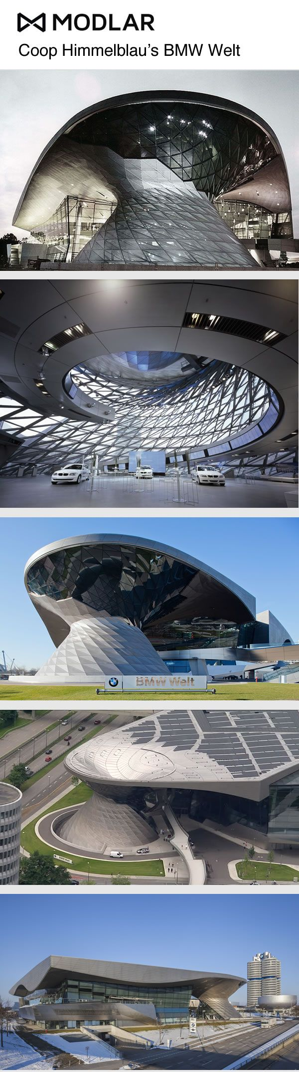 The BMW Welt by Coop Himmelb(l)au #BMW #Architecture
