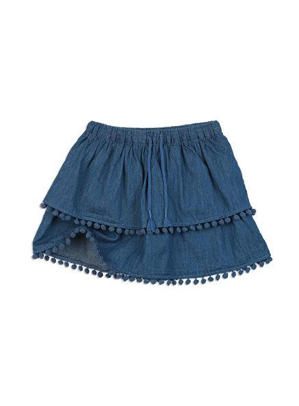 Pumpkin Patch -  - chambray bobble skirt - S5GL70001 - denim - 5 to 12
