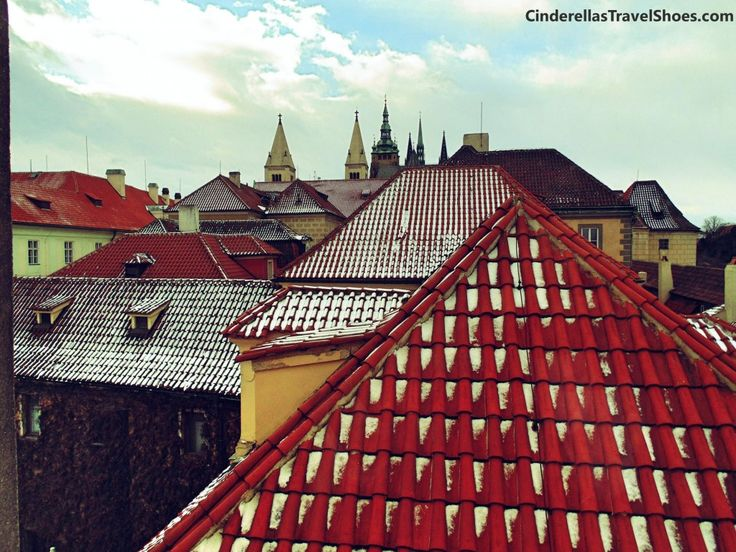 View from Toy Museum to the old town of Prague