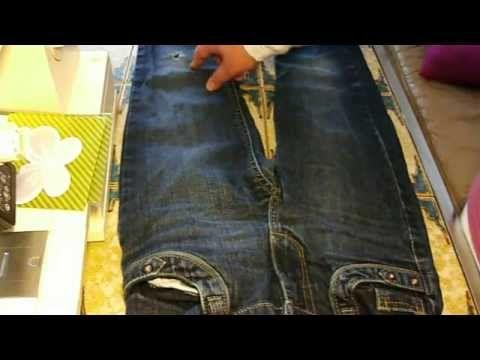 Jeans mit löchern retten (2 Arten)