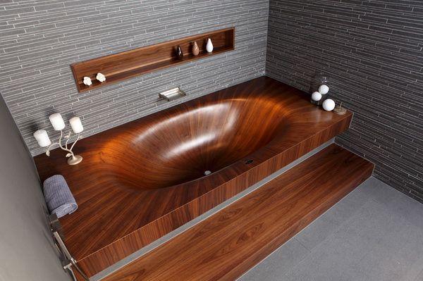 Фото: Деревянная ванная, нравится?