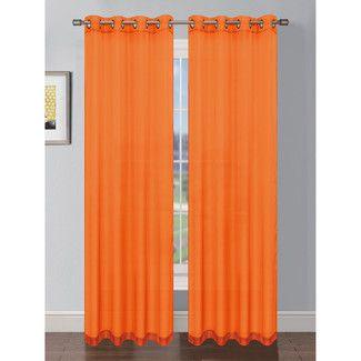 Orange Curtains & Drapes   Wayfair