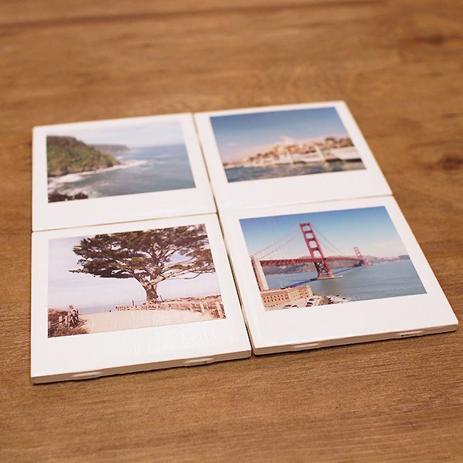 diy Wedding Crafts: Polaroid Coasters