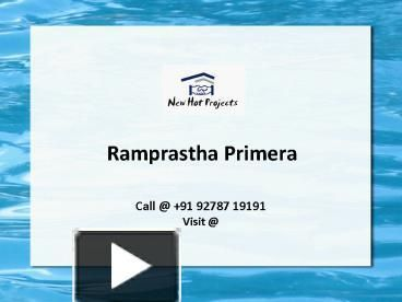 Ramprastha Primera offers 3 BHK luxury apartments with different sizes as well as world class amenities at discounted price in Sector 37D, Gurgaon. Book Today