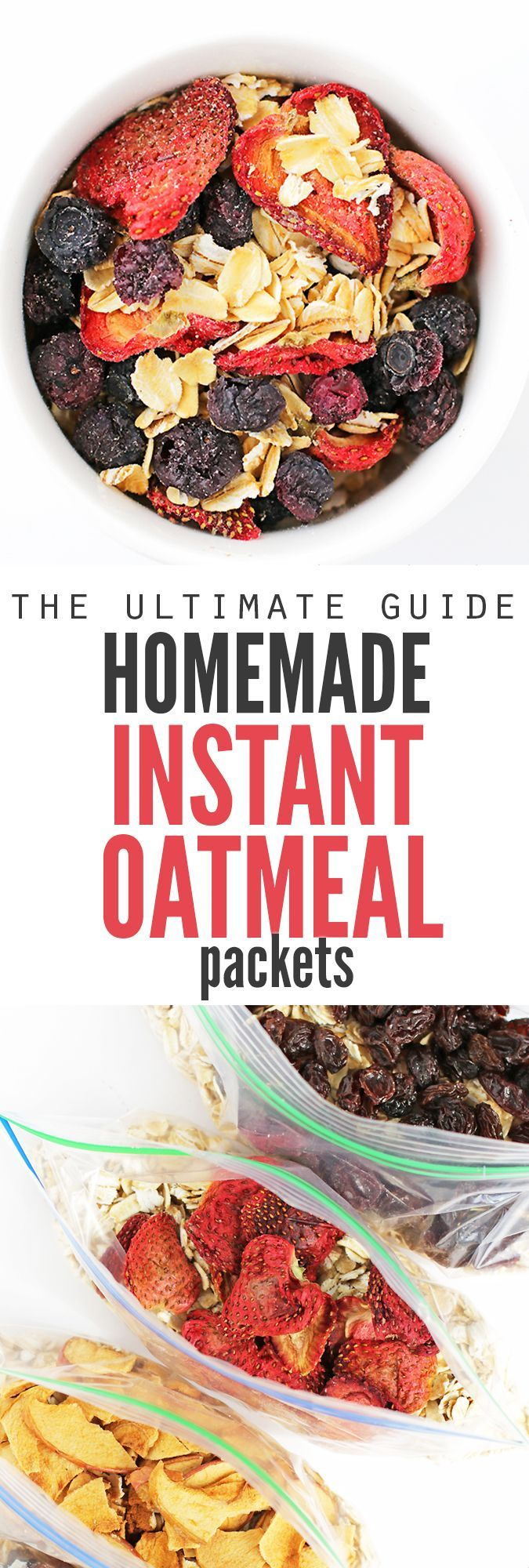 This ultimate guide to homemade instant oatmeal packets is so awesome! There's different flavor combinations, packing ideas, tips for including the kids (both in preparing and actually making the oatmeal in the morning) and homemade instant oatmeal packets are much healthier and frugal than store-bought. PLUS, you can make six weeks' worth of packets in less than an hour! :: DontWastetheCrumbs.com