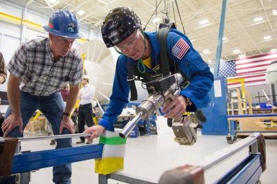 Spacewalk Training at Johnson Space Center - Photo Credit: NASA