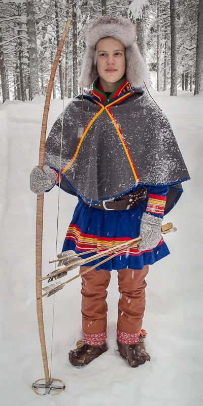 Planes, Trains and Toboggans - Jokkmokk 2013 - Sub Zero Trip Report. Modern Sami archer.
